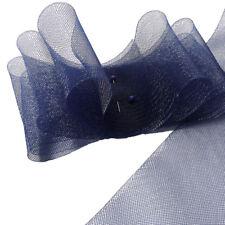 """5 yards Piece  4"""" (10 cm) Midnight Blue Horsehair Braid Trim"""
