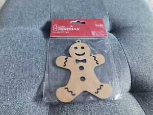 CHRISTMAS EMBELLISHMENT CLEAROUT - DOCRAFTS GINGERBREAD MAN 🇬🇧 UK 🌲🎅🌲🎅🌲🎅
