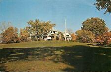 Danville Illinois~Harrison Park Club House~Golf Course~Fall Leaves~1960 Postcard