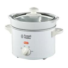 Russell Hobbs Small Slow Cooker - 2L 1-2 People White Compact Mini 22730