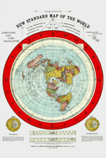 Flat Earth Map Gleason's Standard Map Of The World Large 24 x 36 Poster