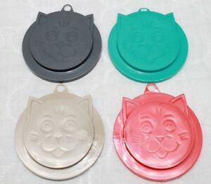 Kitty-Kap Cat Food Can Plastic Cover Plastic Lid Top Cover Brand New 4 Colors
