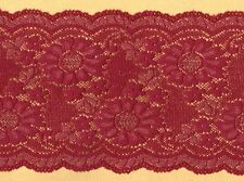 Red & Gold Lurex Stretch Lace Trimming 5mts 12.5cm Wide
