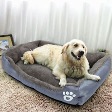 Large Dogs Bed Fleece Pet Dog Cat Cushion House Kennel Crate Sleeping Bed Mat