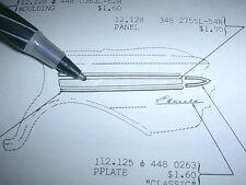 1963 AMC RAMBLER CLASSIC 770 RIGHT REAR QUARTER ALUMINUM TRIM PIECE NOS