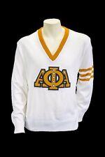 Alpha Phi Alpha White Old School VNeck Sweater