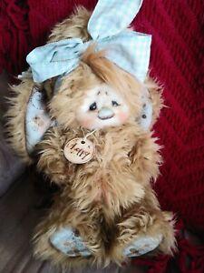 "Patti's Ratties ""Loppy"" OOAK Artist Bear Rabbit by Patti Sikes"