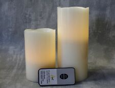 Flameless LED Wax Pillar Candles Set with Remote Control