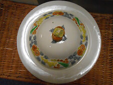 George Jones and Sons  Golden Dawn Covered Bowl -white & yellow- majolica