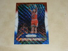 SCOTTIE PIPPEN 2015-16 PANINI PRIZM #242 RED WHITE & BLUE WAVE PRIZMS BULLS