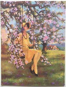 Springtime Art Deco Lady  by  R. Atkinson Fox?