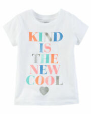 """NWT CARTER'S TODDLER GIRLS' TEE """" KIND IS THE NEW COOL"""" SIZE 2T"""