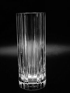 """BACCARAT CRYSTAL """"HARMONIE"""" 7 7/8"""" CYLINDRICAL FLOWER VASE ~ MADE IN FRANCE"""