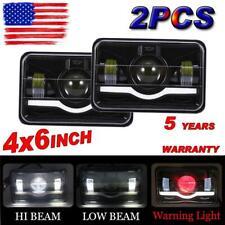 "2Pcs 4X6"" LED Headlights Driving Lamps Hi-lo Beam Sealed for Kenworth Chevrolet"