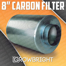 """8"""" CARBON AIR FILTER SCRUBBER ODOR CONTROL INLINE Activated COAL Hydroponic can"""