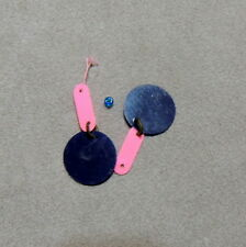 Barbie 1960s Jewelry Vintage Earring Authentic Sunflower Mod Navy Pink