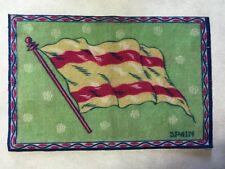 "Spain Early 1900's Tobacco Felt Flag 5.5"" X 8"""