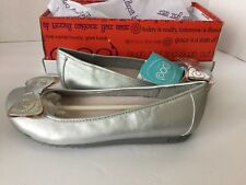Women's New Poe Silver Leather Slippers Size 7.5