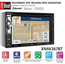 Dual XNAV267BT 6.2 inch LED Double Din Car Stereo Built-In Navigation CD #3885