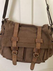Augur Straiss & co Canvas and Leather bag / Satchel