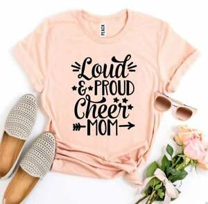 Loud and Proud Cheer Mom T-Shirt, Cheer Mom Gift, Mother's Day T-Shirt