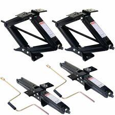 "5000lb 4""- 24"" RV Camper Scissor Leveling Jacks Trailer Stabilizer w/Handle 4 PC"