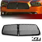 For 2011-2014 Dodge Charger Blk Luxury Badgeless Mesh Front Bumper Grill Grille  for sale