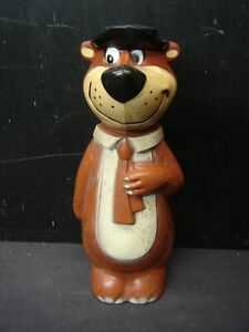 Vintage Plastic Yogi Bear Bank Soaky  Hanna Barbera Knickerbocker