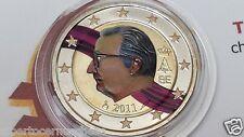 2 euro 2011 BELGIO colorato belgique belgium belgica belgien Re Alberto Albert