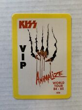 """VINTAGE - KISS Animalize VIP Pass 84-85 Sticker - 3.25 x 4.5""""  - Simmons Stanley"""