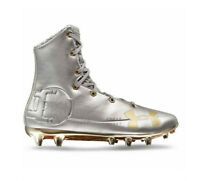 NEW Under Armour Highlight MC LE Mens Size 10 Football Cleats 3000338-100 Silver