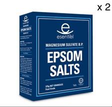 ESSENTIEL EPSOM SALTS GRANULES FOOD GRADE 375G  X 2 Packs