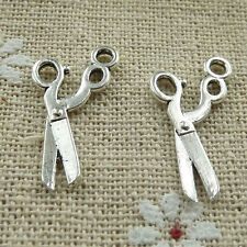 Free Ship 360 pieces tibetan silver scissors charms 23x12mm #349
