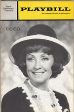 "Danielle Darrieux ""Coco"" 1970 Playbill George Rose"