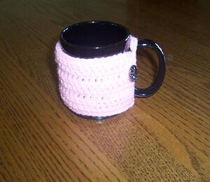 Hand Crochet Baby Pink Coffee Mug Cozy