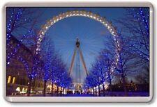 FRIDGE MAGNET - LONDON EYE - Large Jumbo - (Blue) London UK England