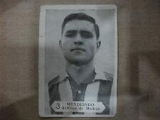 CROMO Nº MENDIONDO ATLÉTICO DE MADRID TEMPORADA 1958-59