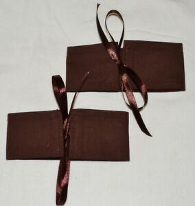 2 Wrap N Tye CHOCOLATE BROWN Curtain Tiebacks Tieback Cuffs