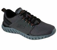 Walk Charcoal Orange Lace Skechers Shoes Men 52821 Sport Train Mesh Memory Foam
