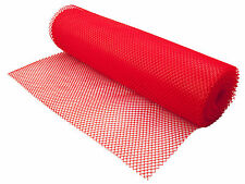 Red Plastic Shelf Liner 10 mtr Glass Stacking Beaumont Mat Pub Bar Catering