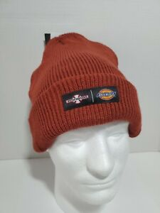 Dickies / Independent Truck Co Skater Surfer School Beanie Hat Maroon One-Size