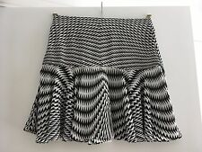 WOMENS COUNTRY ROAD MINI SKIRT, SIZE 4, BLACK AND WHITE PRINT, PARTY WEAR