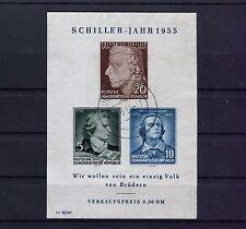 "DDR: bloque 12 con sello, con placas error 12 x, ""W"" de nos prorrogado arriba"