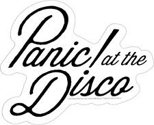 15918 Panic At the Disco Cursive Logo Rock Emo Alternative Die Cut Sticker NEW