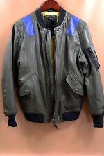 $598 DIESEL Bomber Style Leather Jacket Size M