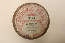 Rare cylindre phonographe Pathé inter LEONIE TANESY sings Donizetti LA FAVORITE