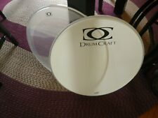 Set of used 22 Inch drum Heads from a Drumcraft Kick Drum