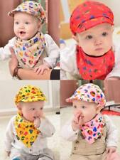 Baby saliva towel hat suit, suitable for 4 months to 3 years old baby 100%cotton