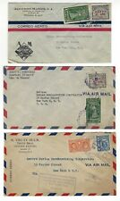 PANAMA, Panama City - 20 Vintage Air Mail stamped envelops post marked 1946 RARE