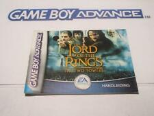 nintendo gameboy advance manual: THE LORD OF THE RINGS the two towers